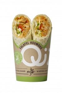 wrap falafel houmous